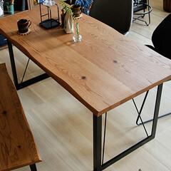 インテリア/食卓/テーブル/ダイニング/キッチン/北欧/... 天然木アメリカンオーク無垢材の様々な表情…