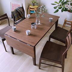 インテリア/食卓/ダイニング/家具/モダン/北欧 食卓を囲む人数が増えても柔軟に対応できる…