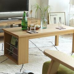 インテリア/家具/リビング/テーブル/北欧テイスト 温かみのある優しい木目が特徴の天然木オー…