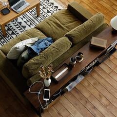 家具/インテリア/収納/オープンラック/壁面収納/リビング ウォールナットの高級感とアイアンのヴィン…