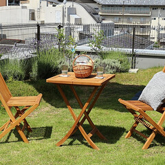 インテリア/家具/テラス/ガーデン/アウトドア/ベランピング 世界三大銘木の天然木チーク材を贅沢に使用…
