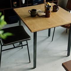 ダイニング/食卓/テーブル/北欧/カフェテイスト/おしゃれ/... ヴィンテージ感溢れる、メンズライクな雰囲…