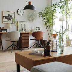 インテリア/家具/チェアー/イス/椅子  ブラックスチールの脚部とエイジング加工が…