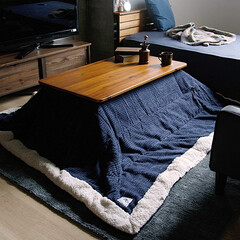 インテリア/こたつ/テーブル/アカシア 天然木アカシア材の風合いを感じることがで…