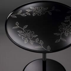 世界のインテリア/漆テーブル/蒔絵 漆塗りのテーブルに蒔絵 皆さん「蒔絵」と…