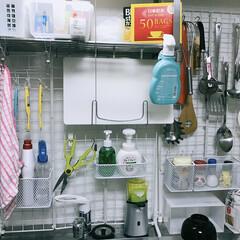 DIY収納/収納/キッチン雑貨/簡単/雑貨/掃除/... ☺︎ . . おうち時間しました🤗…
