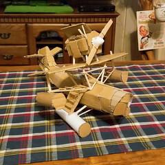 ただの飛行機/また作ります/ありがとう/手作り/ダンボールDIY/ハンドメイド/... ダンボールDIY【続編】 ただの飛行機✈…