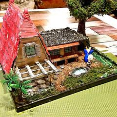 てっちゃんDIY/てっちゃんワールド/ダンボールで夢を叶える/ジブリ大好きおじさん/完成/さつきとメイの家/... ついに完成しました。😊👍 草壁家【さつき…