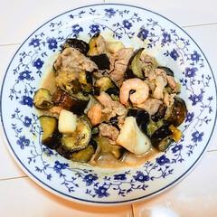 ご飯のおとも/茄子の味噌ゴロ/田舎めし/自炊男子/男飯/オヤジ飯/... 今夜のおかずは、茄子の味噌ゴロ😋🍚 見た…