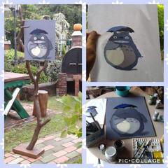 流木/男前インテリア/看板/トトロ/DIY/住まい/... 3年ほど前に作った看板です。 トトロを描…