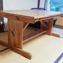 昔の作品/テーブル/DIY 昔作ったテーブル 使ってなくて隣の本家の…