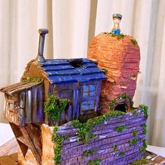 手作りジブリ雑貨/パズーの家/天空の城ラピュタ/ダンボールDIY/ハンドメイド/雑貨だいすき 久しぶりの投稿です😅 パズーの家を作って…