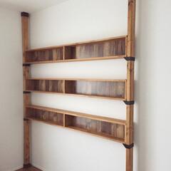 作り直し/安全性確保/改善/本棚/ディアウォール/DIY 以前に頼まれてDIYした本棚を 安全性確…(1枚目)