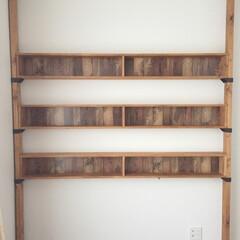 作り直し/安全性確保/改善/本棚/ディアウォール/DIY 以前に頼まれてDIYした本棚を 安全性確…(2枚目)
