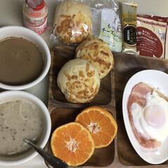 ヤクルト/クノールカップスープ/ネスカフェインスタントコーヒー/セブンイレブン/朝ごはん/フォロー大歓迎 朝ご飯🥞 でも野菜が無い(^◇^;)