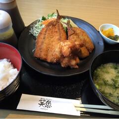 ランチ/おでかけ 地魚フライ定食、850円。 サク💕ふわ💕…