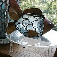 キャンドルホルダー/動物モチーフグッズ 窓辺に鎮座しているアンティークなキャンド…