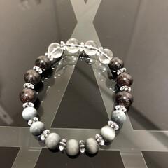 数珠/ブレスレット好きな人/ブレスレット好き/ハンドメイド/手作り/ハンドメイド作品/... 《♯023》 《サイズ》 18㎝ ±0.…(2枚目)