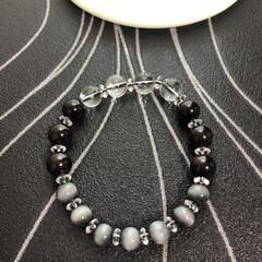 数珠/ブレスレット好きな人/ブレスレット好き/ハンドメイド/手作り/ハンドメイド作品/... 《♯023》 《サイズ》 18㎝ ±0.…(4枚目)