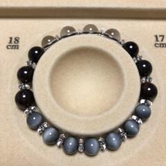 数珠/ブレスレット好きな人/ブレスレット好き/ハンドメイド/手作り/ハンドメイド作品/... 《♯023》 《サイズ》 18㎝ ±0.…(5枚目)