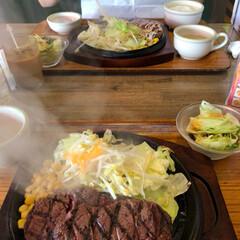 ステーキ/グルメ/フード/おでかけ 久々の外食 結構がっつり めっちゃ美味か…
