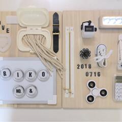 子供部屋/まな板リメイク/グルーガン/いたずら/おもちゃ作り/赤ちゃんのいる暮らし/... 100均でおもちゃ作り  Instagr…(2枚目)