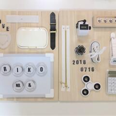 子供部屋/まな板リメイク/グルーガン/いたずら/おもちゃ作り/赤ちゃんのいる暮らし/... 100均でおもちゃ作り  Instagr…