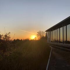 夕陽/風景 比叡山ロテルドから見た夕陽