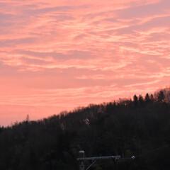 風景 自宅から見た朝焼け