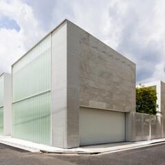 石/ガラス/コンクリート/モダン/スタイリッシュ/ミニマル/... シンプルな外観