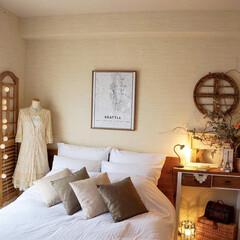 インテリア/ベッドルーム/寝室/海外インテリア/北欧/北欧インテリア 少し前に、子どもと一緒に寝ている寝室を模…(2枚目)