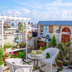 花の寄せ植え/ベランダガーデニング/ルーフバルコニー/テラス/ガーデン雑貨/ガーデニング/... おはようございます☀️🌈 昨日は穏やかに…