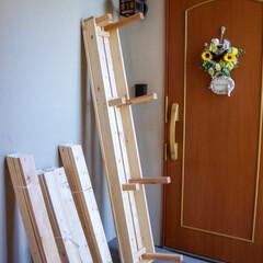 DIY女子/ガーデンフェンス/ベランダガーデニング/ミルクペイントでつくろう/ベランダ改造計画/手作りベンチ/... おはようございます🎵 先週から、ベランダ…