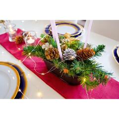 テーブルコーディネート/クリスマスパーティー/クリスマス2019 クリスマスのイベントに駆け込み投稿です~…