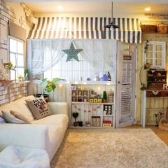 おうち時間/ライティング/リビング/ナチュラルインテリア/雑貨/DIY/... 雨の日は、お部屋のライティングを 楽しむ…