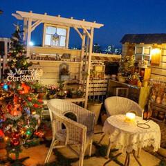 キャンドルナイト/テラス/クリスマスガーデン/ガーデニング/ベランダガーデニング/クリスマス2019 こんばんは🌃🌙*゚  今夜からガーデンツ…