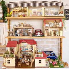シルバニア棚/子どものおもちゃ収納/手作りインテリア/シルバニアファミリー/レクポスト/フォロー大歓迎/... 私の手作りフォトコンテストに参加します💕…