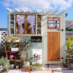 ルーフバルコニー/花と緑のある暮らし/ガーデン雑貨/ナチュラルガーデニング/手作りガーデン/手作り小屋/... おはようございます🎵 昨日は、久しぶりの…