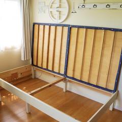 ベッド作り/ミルクペイント/ナチュラルインテリア/子ども部屋/手作りベッド/DIY こんばんは!  ステイホームなゴール…