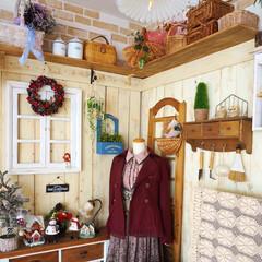 アンティーク/原状回復OK/板壁/フレンチカントリー/クリスマス/DIY/... おはようございます🎵 すべて手作りしたリ…