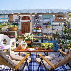 ガーデンリビング/花のある暮らし/ベランダガーデン/おうち時間/ベランピング/ニトリ おはようございます☀️🌈   気付け…