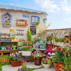 暮らしを楽しむ/花のある暮らし/青空ガーデン/ベランダガーデニング/ガーデン雑貨/LIMIAインテリア部/... こんばんは🌙*゚ 風が強い一日でした… …