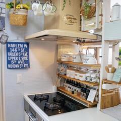 模様替え/ホワイトインテリア/カフェ風インテリア/ナチュラルインテリア/DIY/キッチン雑貨/... ☆。.:*・゜ キッチンの中を模様替え中…