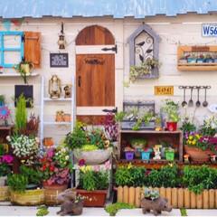 ガーデン雑貨/花のある暮らし/ナチュラルガーデン/手作りガーデン/ベランダガーデニング/DIY おはようございます🎵 昨日の手作りガーデ…