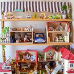 手作り棚/コレクション/シルバニア/DIY/リミアな暮らし レグポストで作った 手作りのシルバニア棚…
