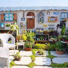 ガーデニングdiy/ベランダ/小屋風/ガーデンフェンス/花と緑のある暮らし/雑貨だいすき/... おはようございます🎶 九州は大雨のあと …