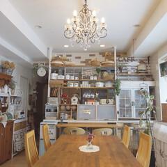 キッチンカウンター/カフェ風キッチン/カフェ風インテリア/ディアウォールDIY/ワトコオイル オープンだったキッチンをディアウォールで…