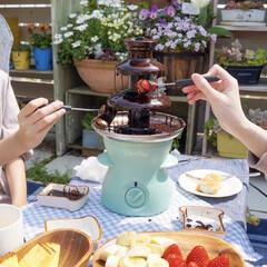 子どものいる暮らし/花のある暮らし/チョコフォンデュ/ピクニック/ガーデンピクニック/おうち時間/... こんばんは!  最高気温が21度だっ…