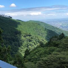 夏休み/涼しい/空/登山/風景 先日軽めの登山をしてきました! 遠くに小…(2枚目)