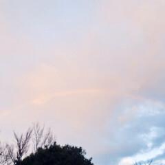 朝/虹/風景 虹がうっすら見えてhappyでした😊✨ …